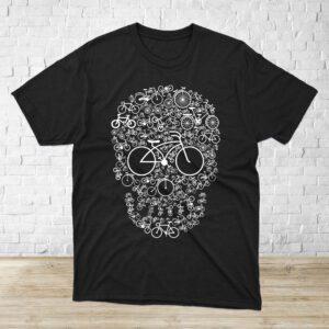 polera Bicycle Skull negra