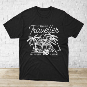 polera traveller negra